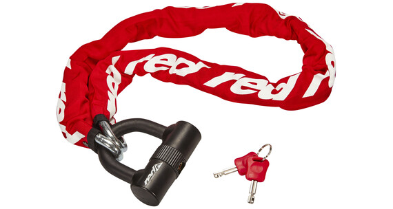 Red Cycling Products High Secure Chain Plus Kettenschloss rot